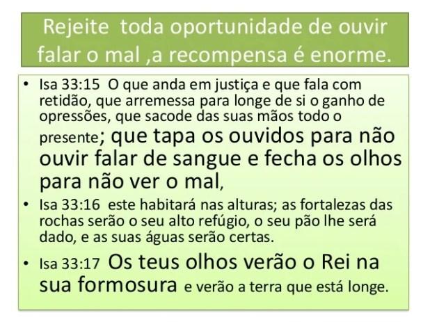 • Isa 59:1 Eis que a mão do Senhor não está encolhida, para que não possa salvar; nem surdo o seu ouvido, para que não pos...