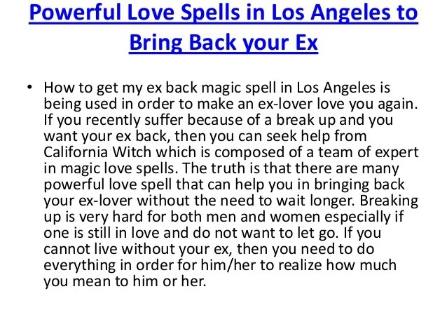 Easy Love Spells Bring Him Back