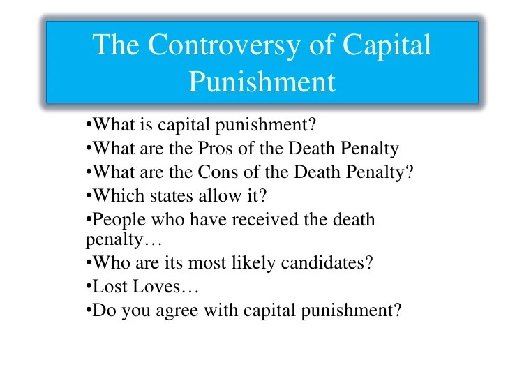 Capital Punishment Should be Abolished
