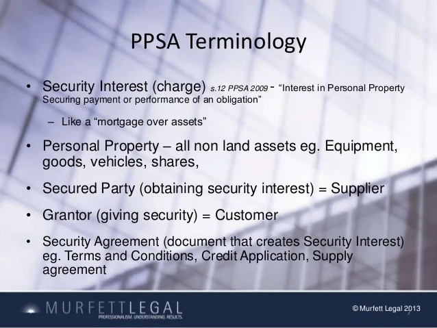 Personal Property Security Act 2009