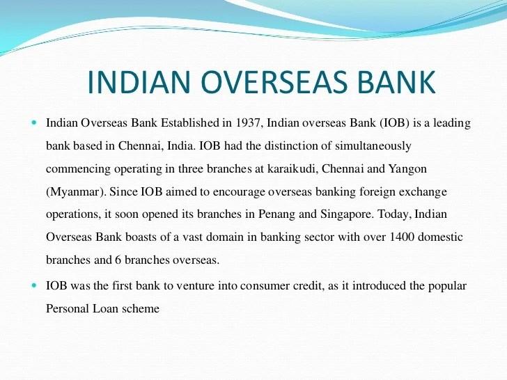 Iob Bank Personal Loan