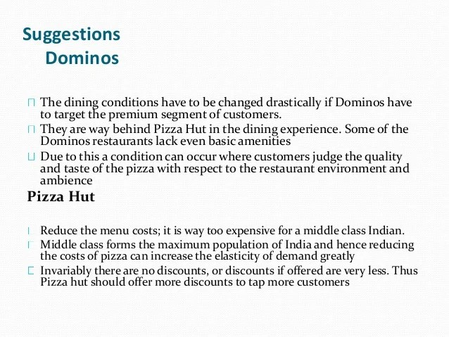 Presentation Of Marketing Strategies Of Pizza Hut Amp Dominos