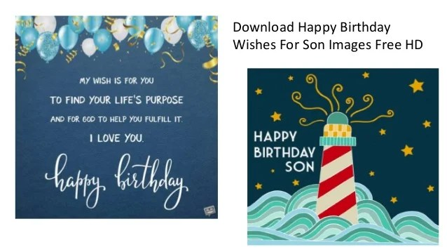 Happy Birthday Wishes For Son Images