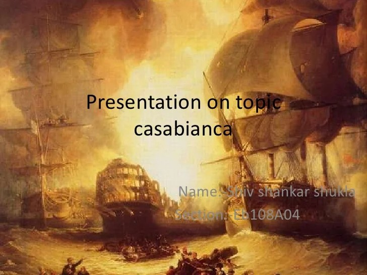 Presentation on topic casabianka in english copy Presentation on topic casabianca br