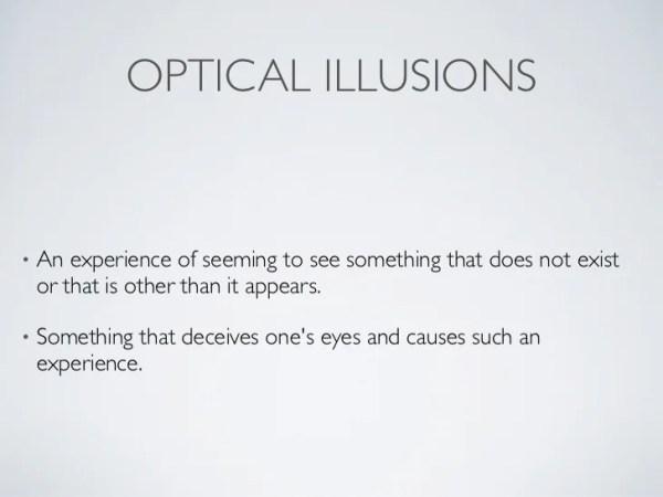 optical illusions school presentation # 5