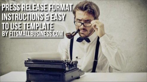 Press Release Format Instructions   Easy To Use Template Press RElease Format Instructions   Easy to Use Template by  FitSmallBusiness com