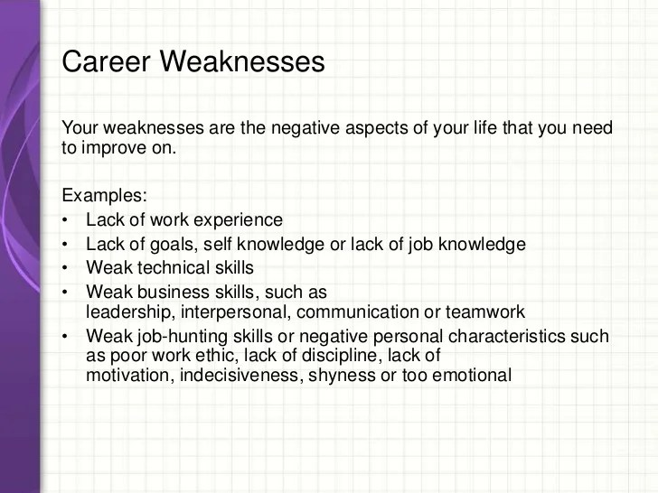 list of weaknesses interview 6 interview sample invoice example ...