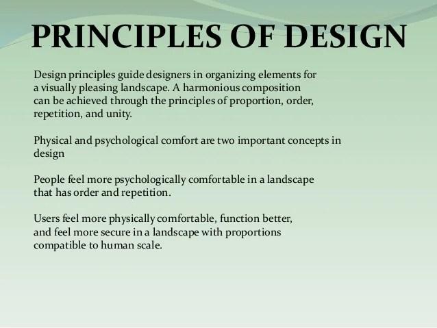 Landscape Principles Scale