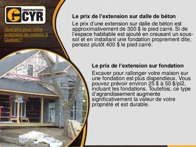 Cout D Une Extension De Maison Stunning Prix Veranda M