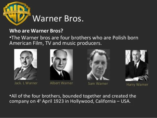 Image result for the four warner brothers