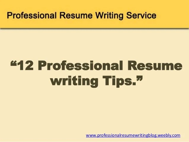 weebly com 12 resumewriting tips
