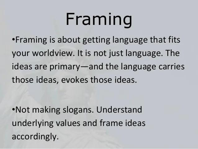 Framing Narrative Examples | Framejdi.org