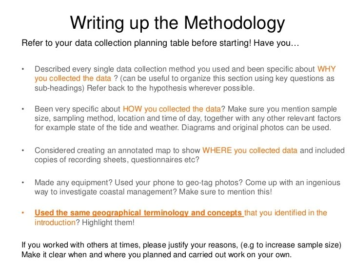 "writing the method section of a dissertation Writing up the methods section please do not call this section your "" methodology"" ""methodology"" is something totally different: it's the branch of the."