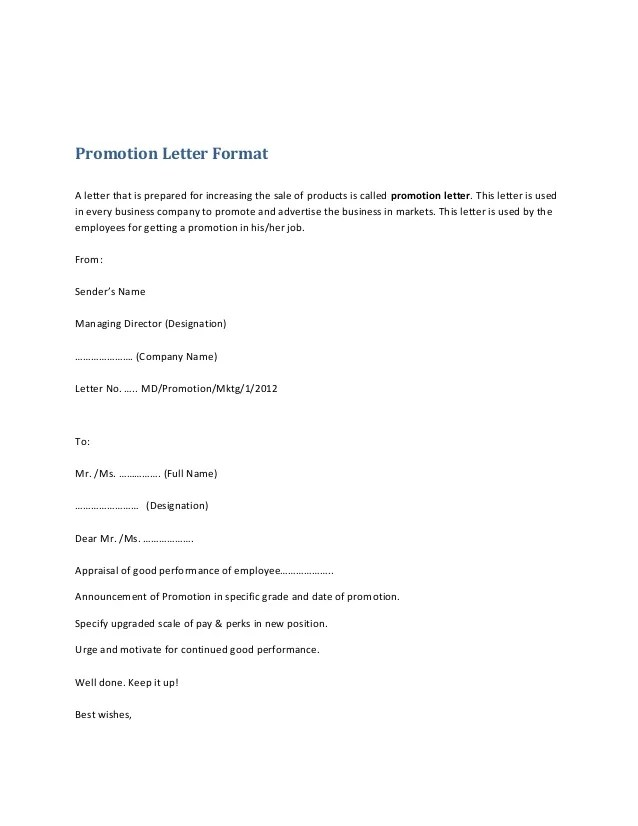 Doc728942 Sample of Sales Promotion Letter Doc728942 Sales – Promotion Announcement Samples