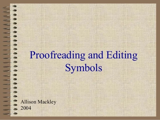 Standard Editing And Proofreading Marks