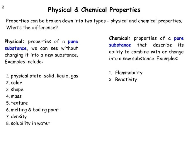 Used What How They Chemical And Are Substance And Physical Are Changes