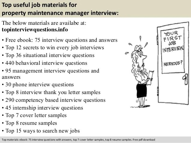 Property Maintenance Manager Interview Questions