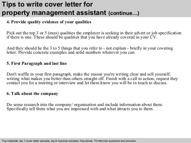 property management assistant cover letter. retail district ...