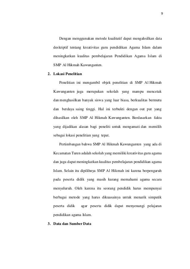 18 Skripsi Metode Kualitatif Deskriptif
