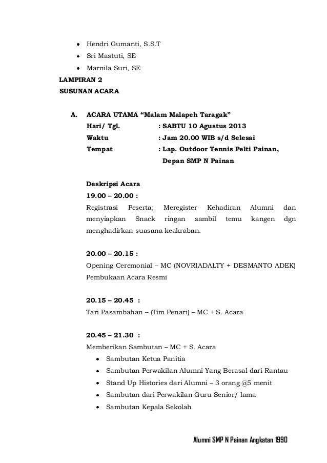 Proposal Reuni Smp N Painan Angkatan 1990