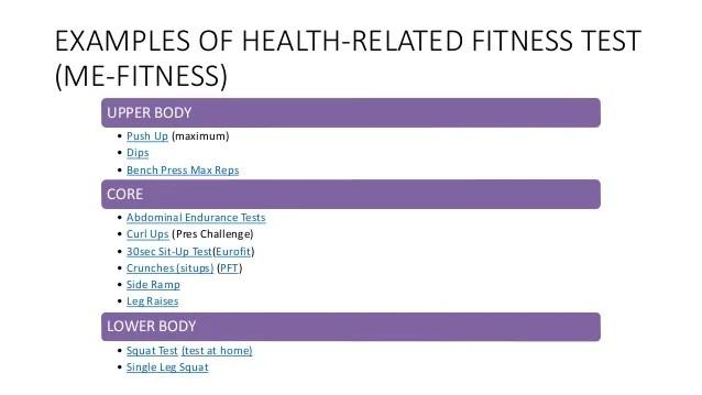 Fitness Tests Examples   Kayafitness.co