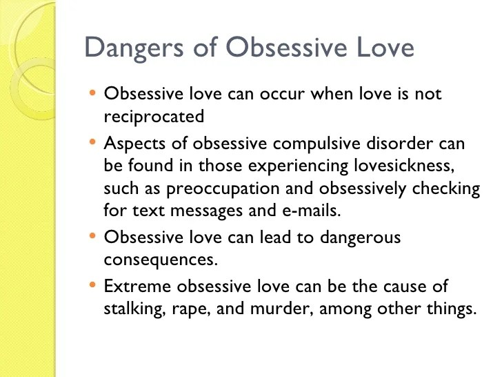 Image result for obsessive love disorder