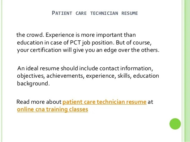 Pct Resume Cover Letter. pct resume experience work experience ...