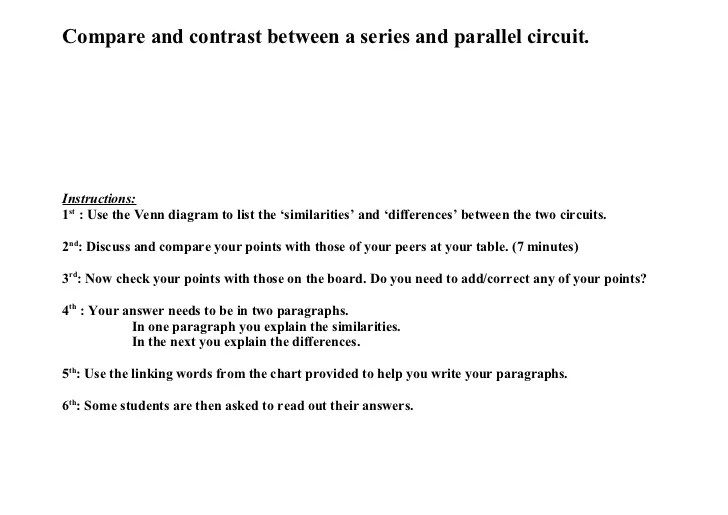 Series and parallel circuits, venn diagram