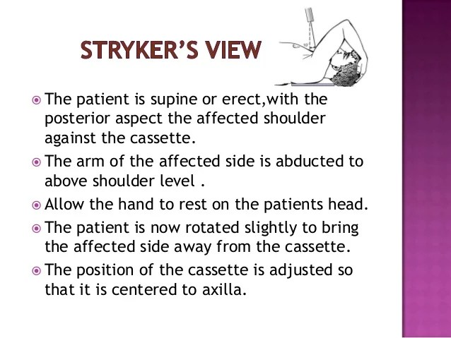 Scapula X Ray Positioning