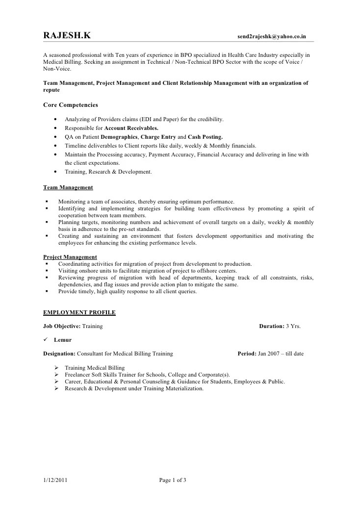 rajesh resume bpo jan 2011