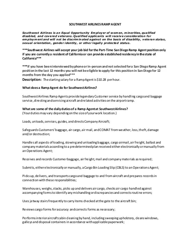 ramp agent resume airline customer service agent resume ...