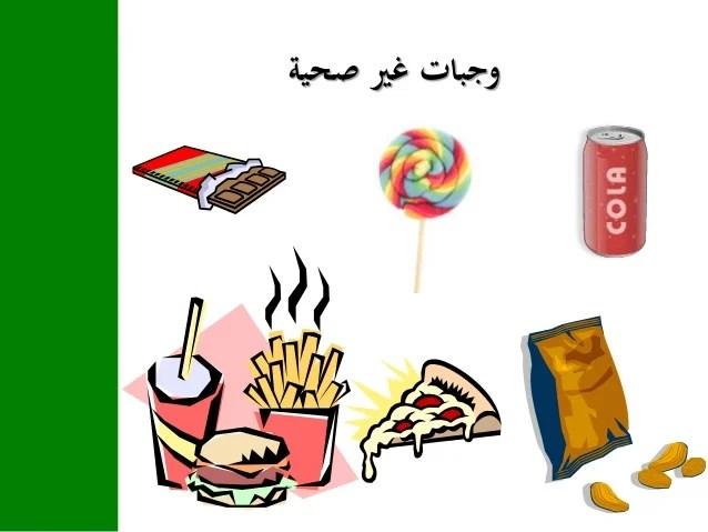 عرض بوربوينت عن الغذاء الصحي للاطفال