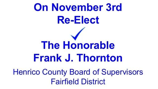J Frank Thornton Henrico County