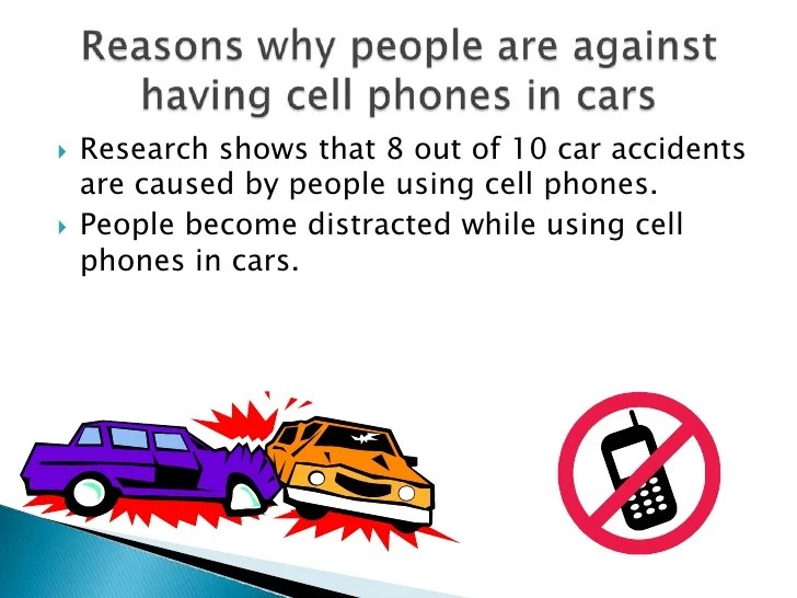 should cell phones banned while driving argumentative essay