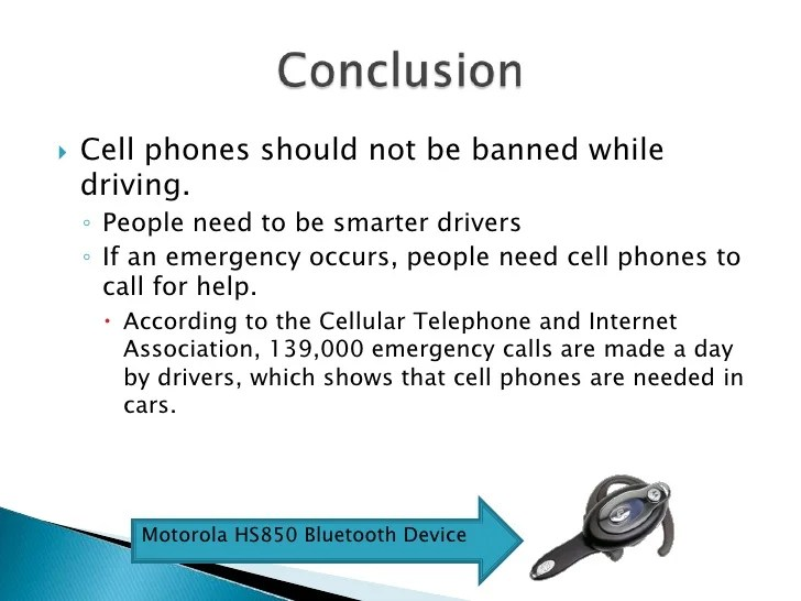 banning cell phones while driving essays