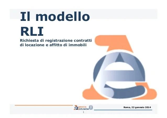 Registrazione Contrattidilocazione Modello Rli