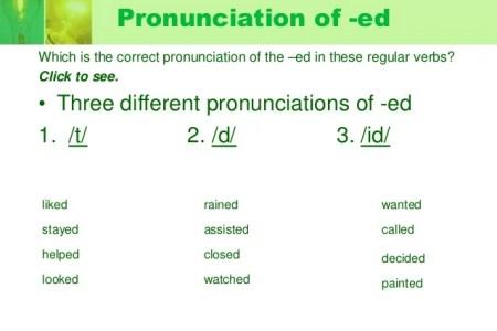Past Tense Regular Verb Pronunciation English — superbo.ecomvia.info
