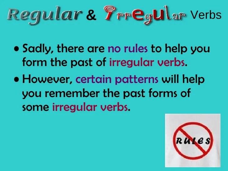 Regular Verbs And Irregular Verbs
