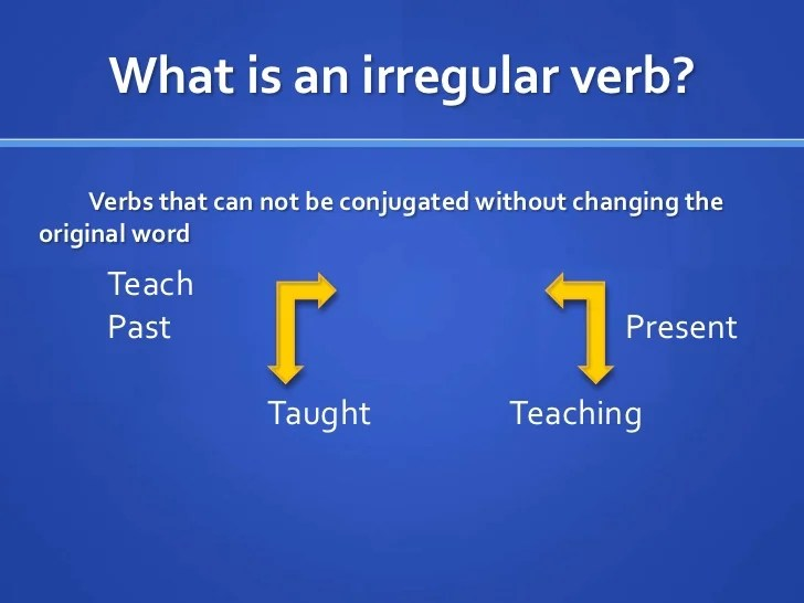 Regular And Irregular Verbs Definition