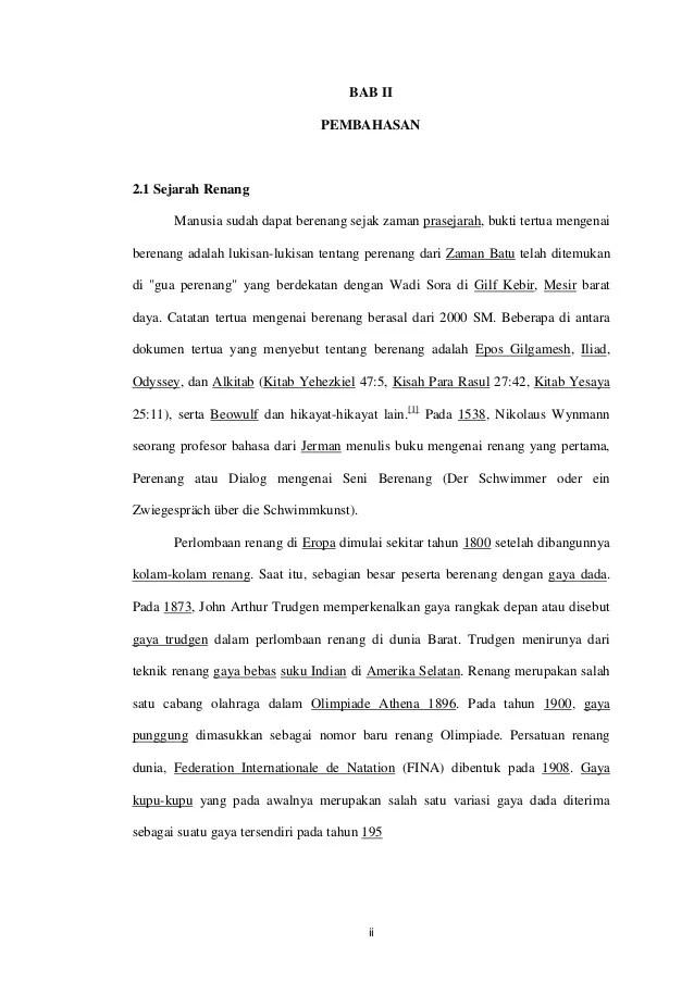 Sejarah Renang Singkat : sejarah, renang, singkat, Makalah, Singkat, Renang, Contoh, Surat