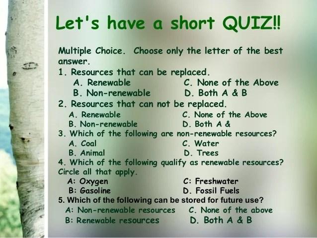 Examples Renewable Vs Non Renewable Resources