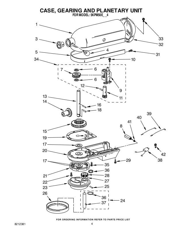 kitchenaid mixer spare parts