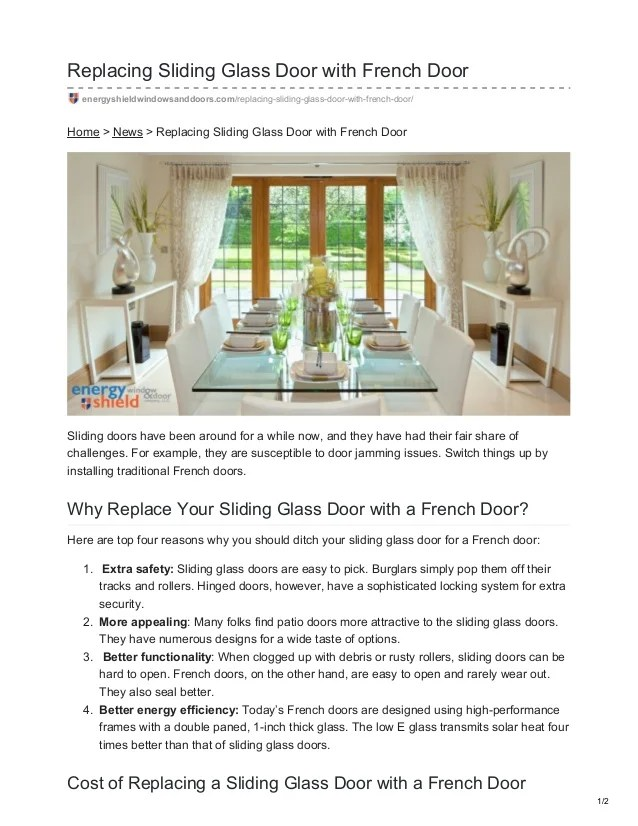 replacing sliding glass door with