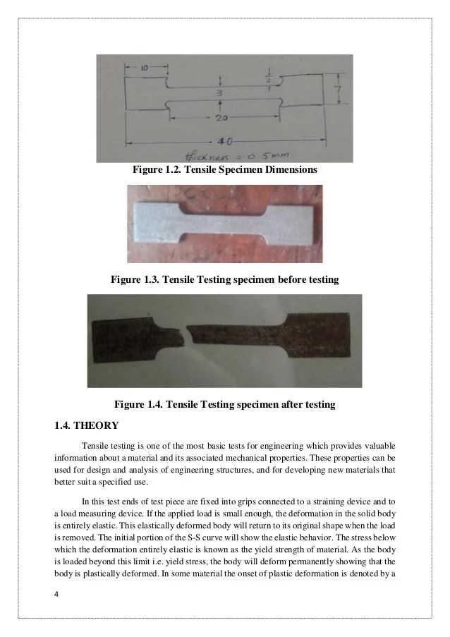 Tensile, Impact and Hardness Testing of Mild Steel