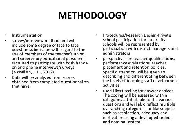 Writing Methodology