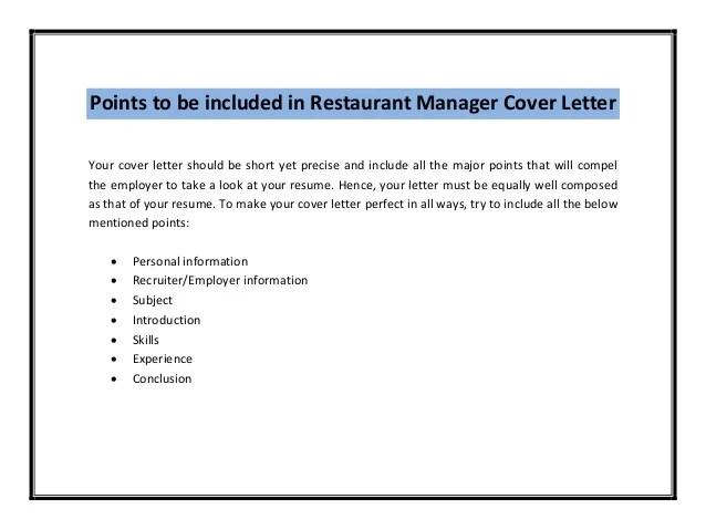 Doc.#8001035: Restaurant Manager Cover Letter Sample – Best ...