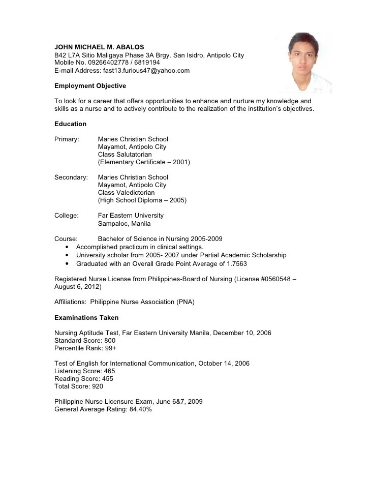 sample resume for a highschool student with no experience