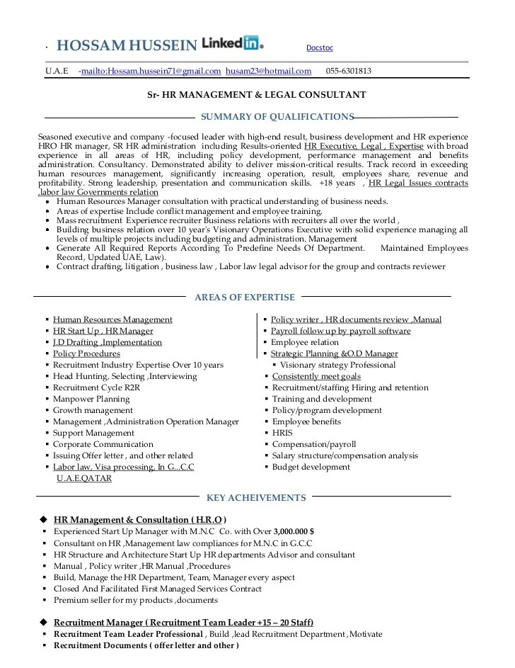 talent management consultant resume comprehensive employee