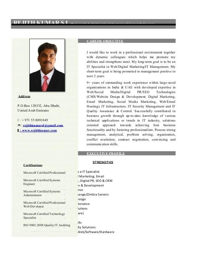 resume social media specialist dubai abu dhabi middle east india