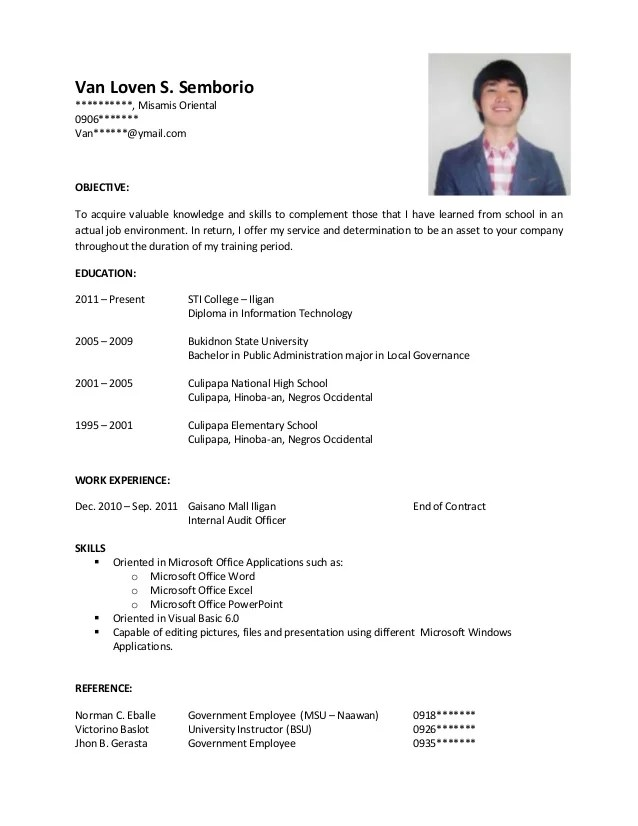 Sample Business Resume Format | Resume Format Download Pdf